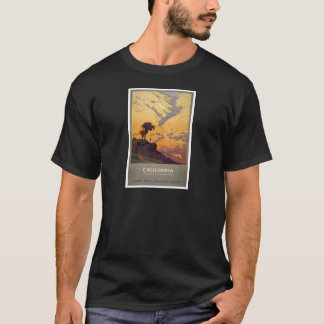 Vintage California Tourism Poster Scene T-Shirt
