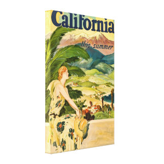 Vintage California Travel Advertisement Canvas Print