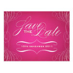 Vintage Calligraphy Save the Date postcard