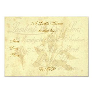 Vintage Calling Card Invitation 13 Cm X 18 Cm Invitation Card