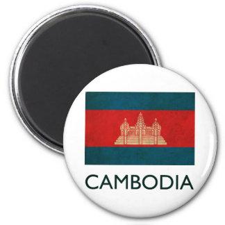 Vintage Cambodia 6 Cm Round Magnet