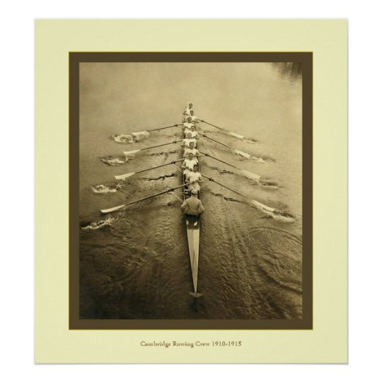 Vintage Cambridge Crew 1910-1915 Poster