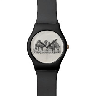 Vintage Camel Illustration - Retro Antique Camels Watch