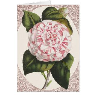Vintage Camellia Elegant Thank You Greeting Card