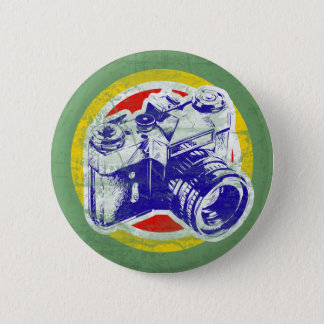 Vintage Camera 6 Cm Round Badge