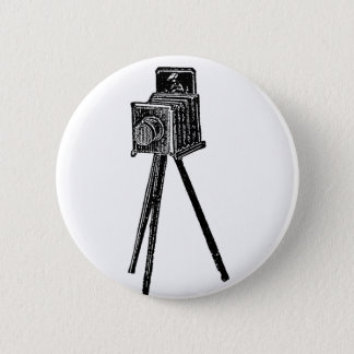 Vintage Camera 6 Cm Round Badge