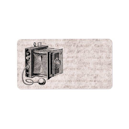 Vintage Camera - Antique Cameras Photography Address Label