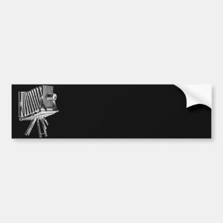 Vintage Camera - Antique Cameras Photography Black Bumper Sticker