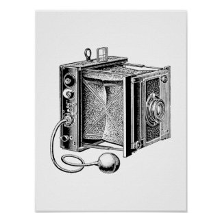 Vintage Camera - Antique Cameras Photography Poster