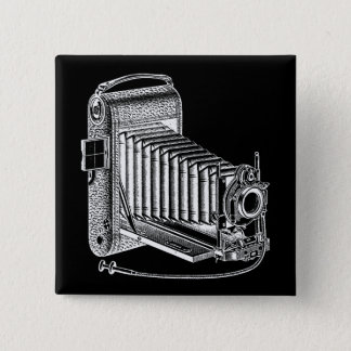 Vintage Camera - Antique Cameras Photography Retro 15 Cm Square Badge