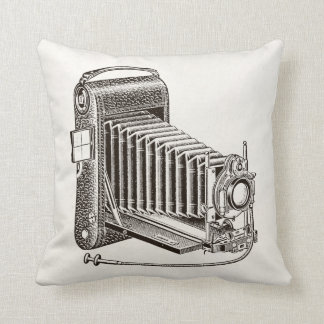 Vintage Camera - Antique Cameras Photography Retro Cushion