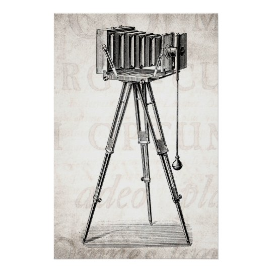 Vintage Camera - Antique Cameras Photography Retro Poster