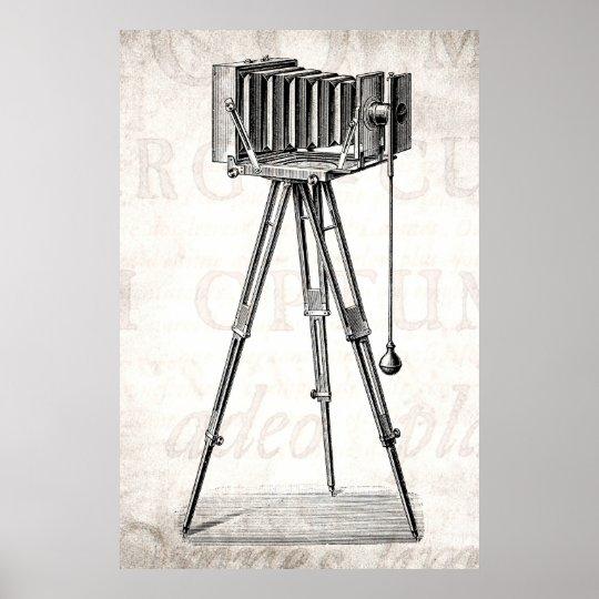 Vintage Camera - Antique Cameras Photography Retro Poster
