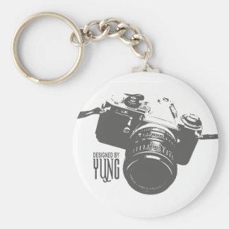 Vintage Camera Basic Round Button Key Ring