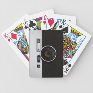 Vintage camera bicycle poker deck