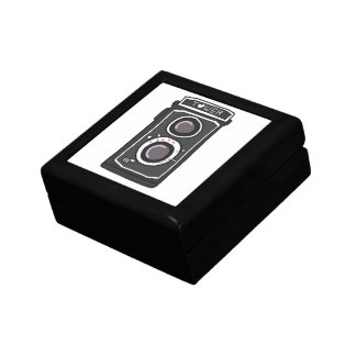 Vintage camera black and gray trinket boxes