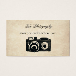 Vintage Camera Business Card