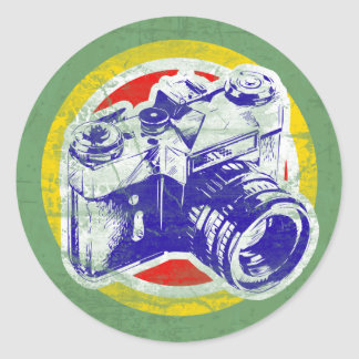 Vintage Camera Classic Round Sticker