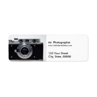 VINTAGE CAMERA Collection (01) Address Labels 1