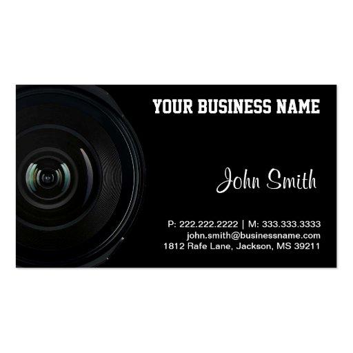 Vintage Camera Lens business card