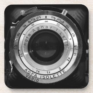 Vintage camera lens coaster