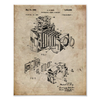 Vintage Camera Patent Poster