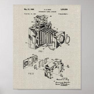 Vintage Camera Patent Poster
