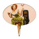 Vintage Camera Pinup girl Cake Picks