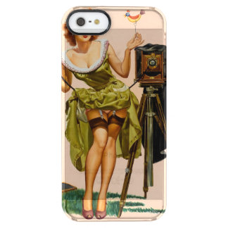 Vintage Camera Pinup girl Uncommon Clearly™ Deflector iPhone 5 Case
