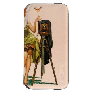 Vintage Camera Pinup girl Incipio Watson™ iPhone 6 Wallet Case