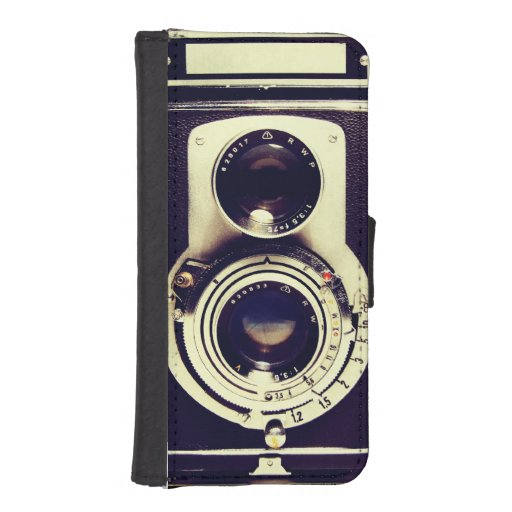 Vintage Camera Phone Wallet Case