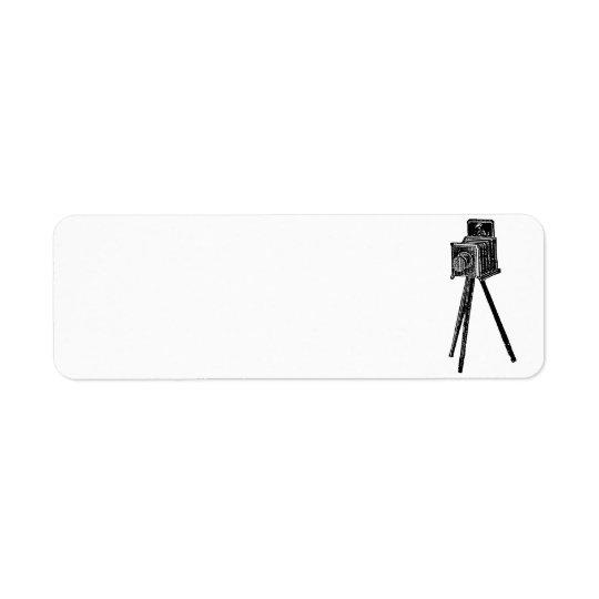Vintage Camera Return Address Label