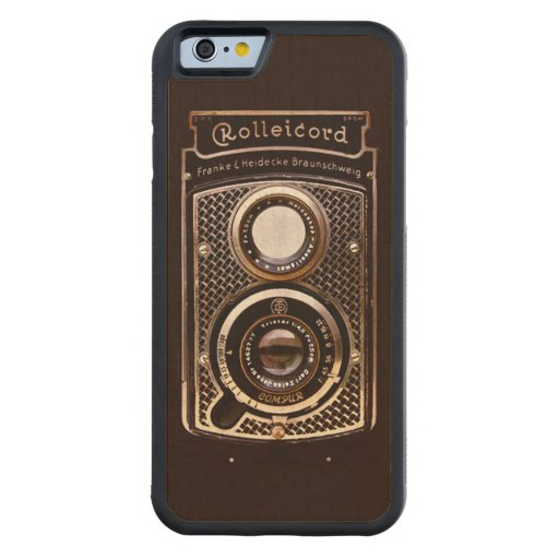 Vintage camera rolleicord art deco carved® maple iPhone 6 bumper