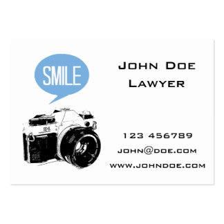 Vintage Camera, Smile Text Balloon, Photographer Chubby Business Cards