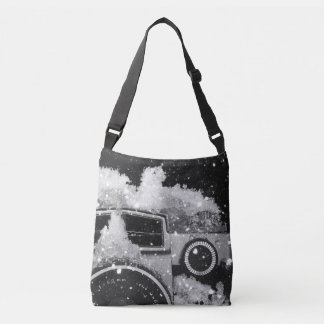 Vintage Camera Snow Storm Crossbody Bag