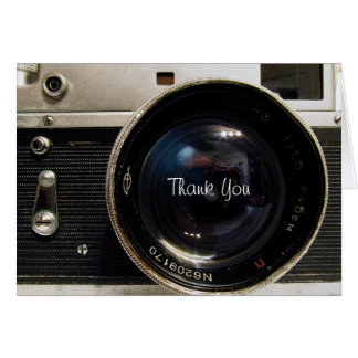 Vintage camera Thank You Card