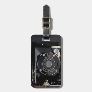 VINTAGE CAMERA USA Folding Camera Luggage Tag