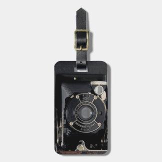 VINTAGE CAMERA USA Folding Camera Luggage Tag