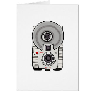 Vintage camera white and gray greeting cards