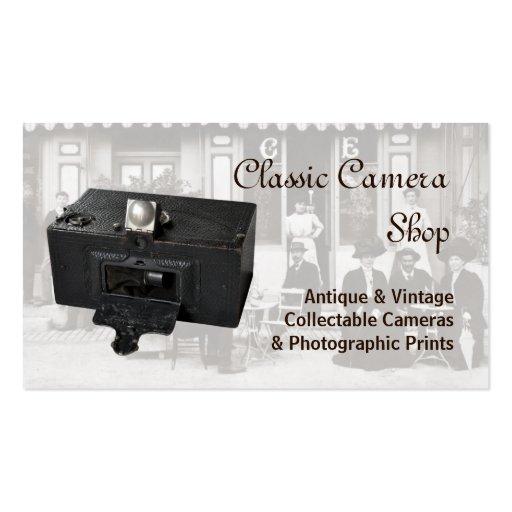 Vintage cameras business card