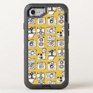 Vintage Cameras - Mustard Yellow / Andrea Lauren OtterBox Defender iPhone 7 Case