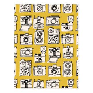 Vintage Cameras - Mustard Yellow / Andrea Lauren Postcard