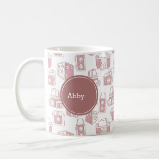 Vintage Cameras Personalized Coffee Mugs