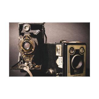 vintage cameras wrapped canvas