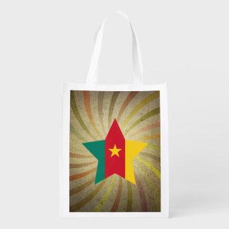 Vintage Cameroonian Flag Swirl