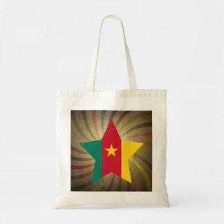 Vintage Cameroonian Flag Swirl Budget Tote Bag