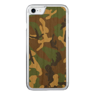 Vintage Camouflage Pattern Carved iPhone 8/7 Case