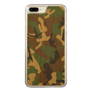 Vintage Camouflage Pattern Carved iPhone 8 Plus/7 Plus Case