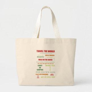 Vintage Camper Manifesto Large Tote Bag