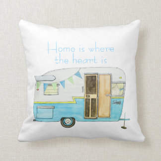 Vintage Camper Throw Pillow